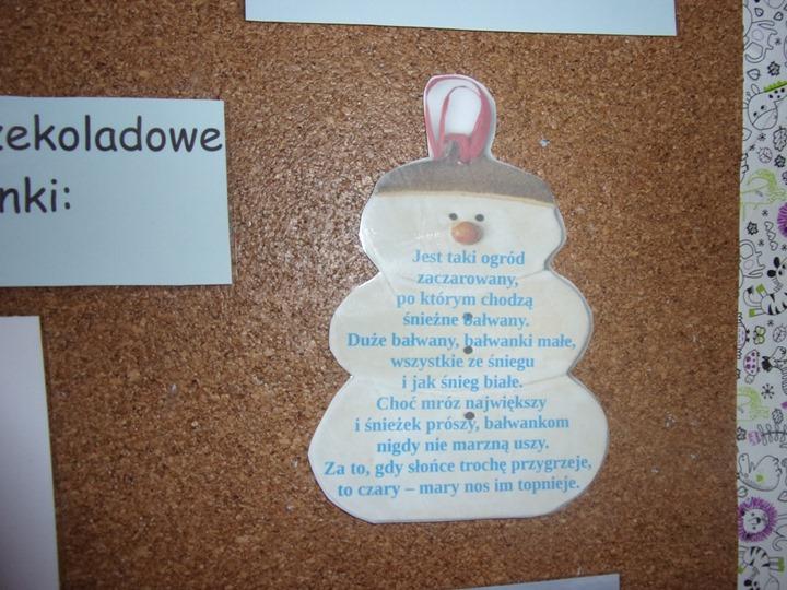W Styczniu Sponsoruje Nas śniegowy Bałwan żłobek